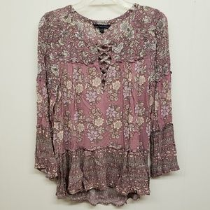 Like New! AEO Floral Print Top